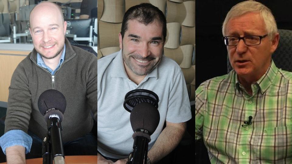 Martin Mallet, Nathanaël Richard et Jean Lanteigne