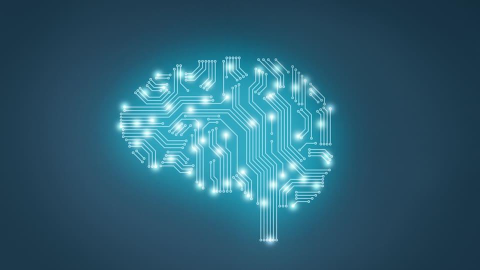 Représentation graphique sur le thème de l'intelligence artificielle