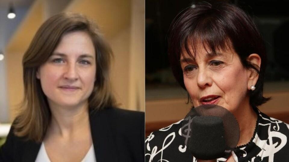 Montage de deux photos portraits des deux femmes.