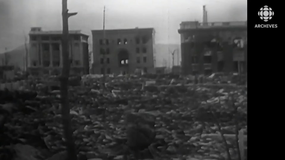 Image de la ville de Nagasaki détruite