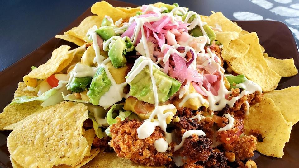 Gros plan sur une salade taco.