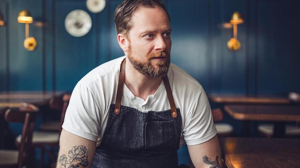 Jean-Christophe Poirier, chef et propriétaire du restaurant St-Lawrence.