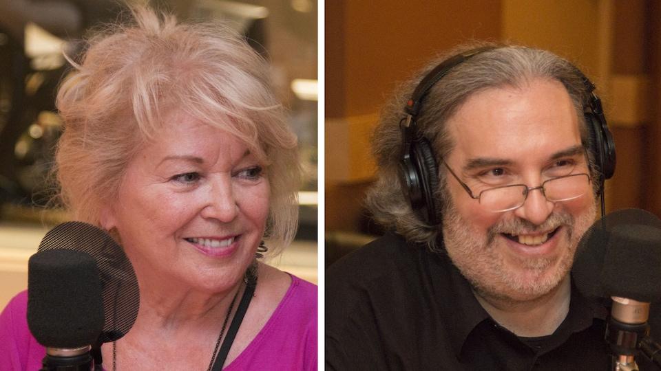 La sexologue Jocelyne Robert et le critique de cinéma Georges Privet