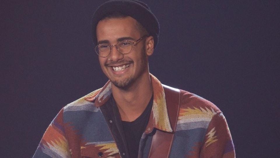 Jonathan «Freeman» Reyes, lors de sa prestation à l'émission «La Voix», à TVA.