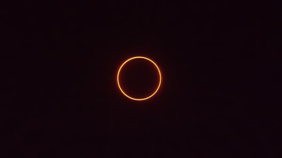 L'éclipse annulaire du 26 décembre 2019 photographie depuis la Malaisie.