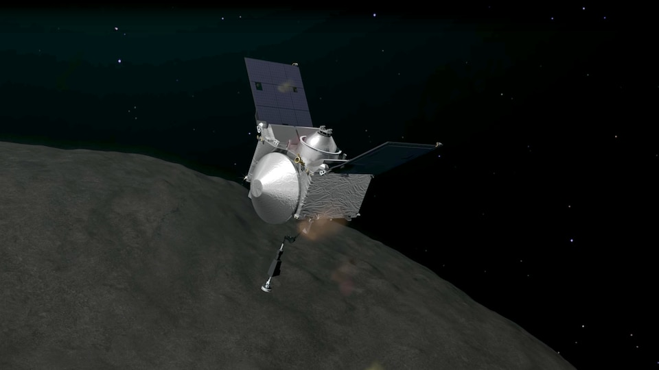 Illustration de la sonde OSIRIS-REx.