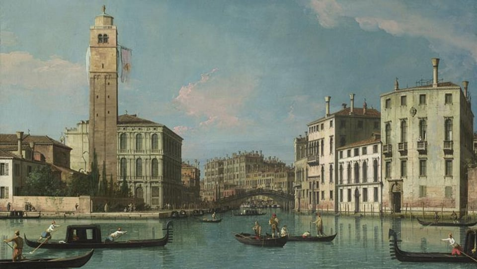 Une peinture de Venise du 18e siècle réalisée par Giovanni Antonio Canal, dit Canaletto.