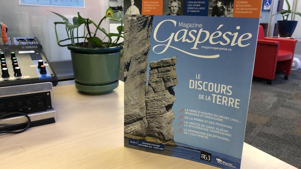 Magazine Gaspésie intitulé Le discours de la terre