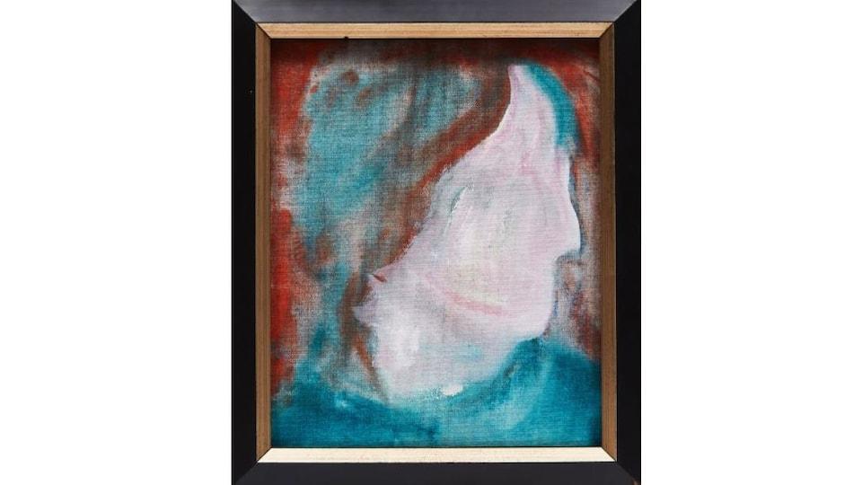 La toile DHead XLVI, de David Bowie, représente un visage anonyme sans yeux ni bouche.