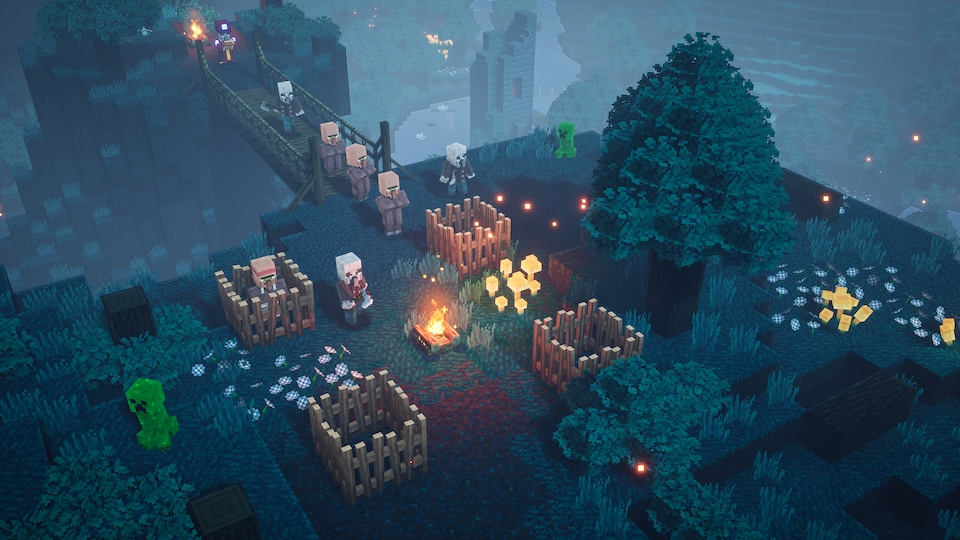 Une scène du jeu Minecraft