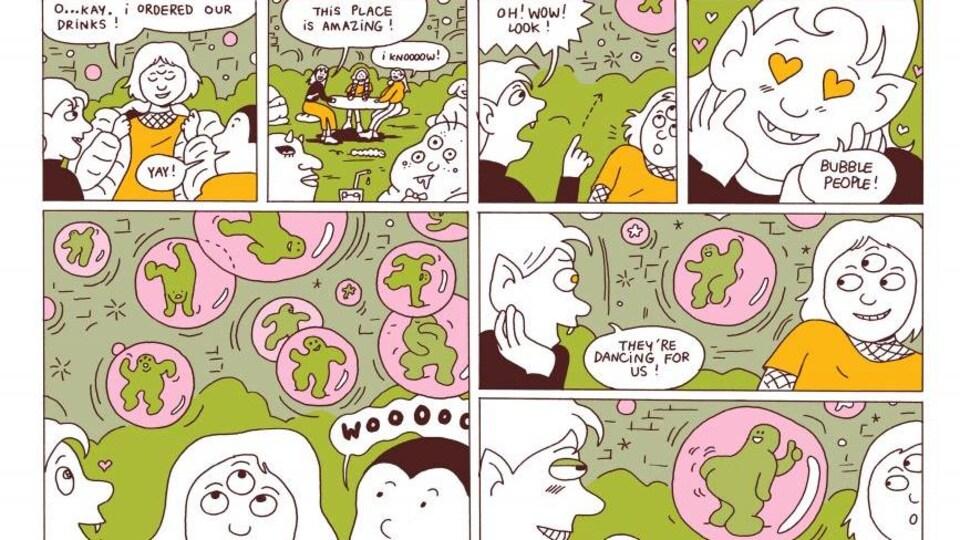 Une page de la bande dessinée « Franken Bar ».