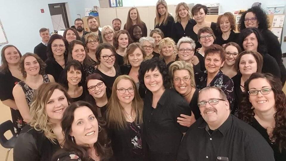 Les membres de la chorale communautaire Boréale en choeur de Hearst