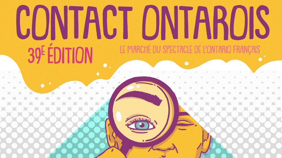 Affiche promotionnelle pour la 39e édition de Contact Ontarois.