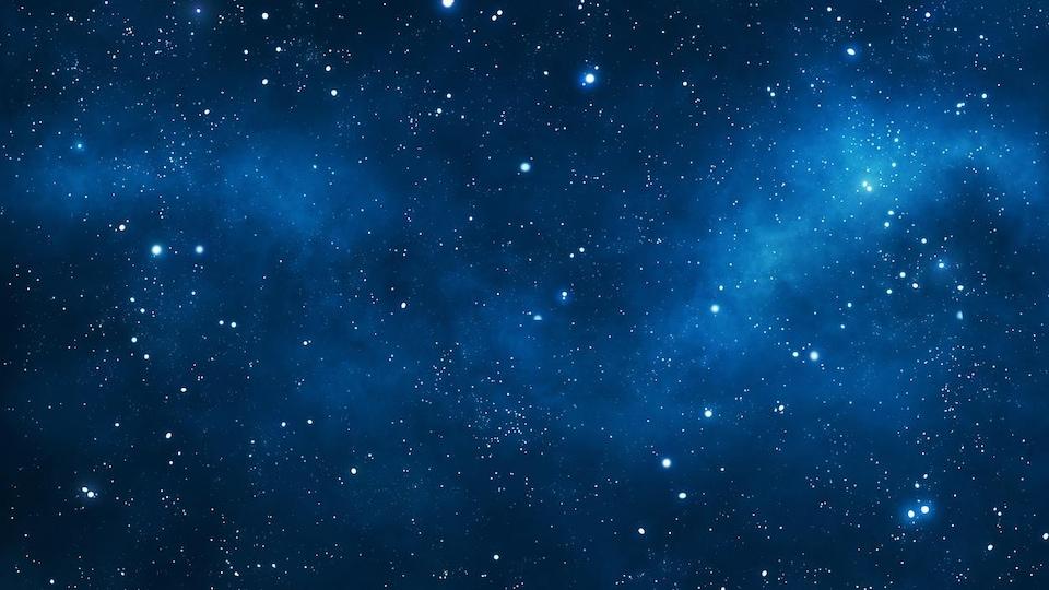 Une photo prise d'un ciel avec des étoiles.