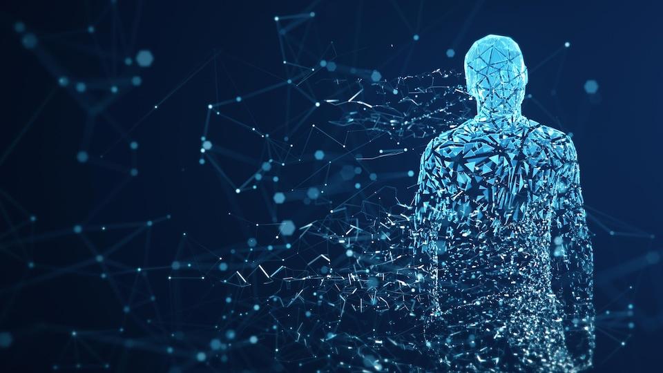 Un avatar crée à l'aide de données.