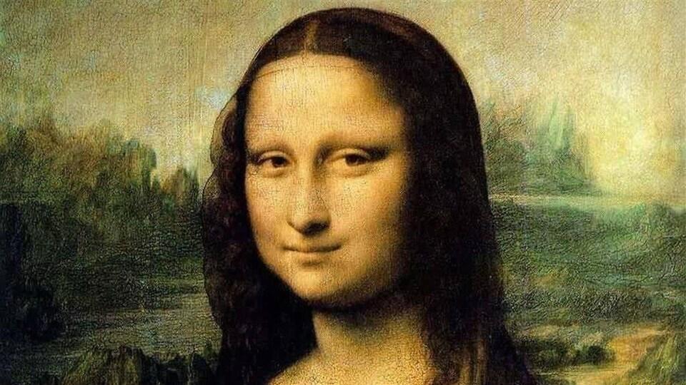 Une reproduction de <i>La Joconde</i>, de Léonard de Vinci.