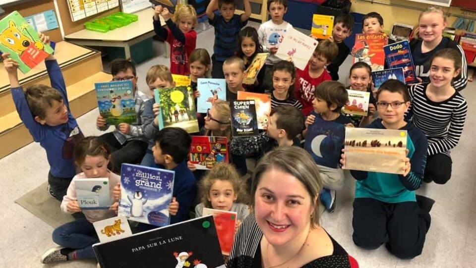 Annie est fière de développer, chez ses élèves,  un véritable intérêt pour la lecture