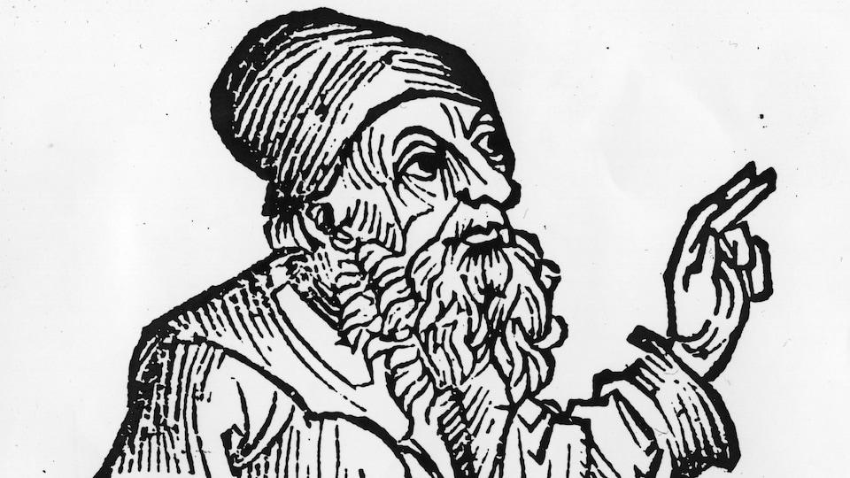 Gravure représentant le philosophe grec Anaxagore (500-428 A.C.)