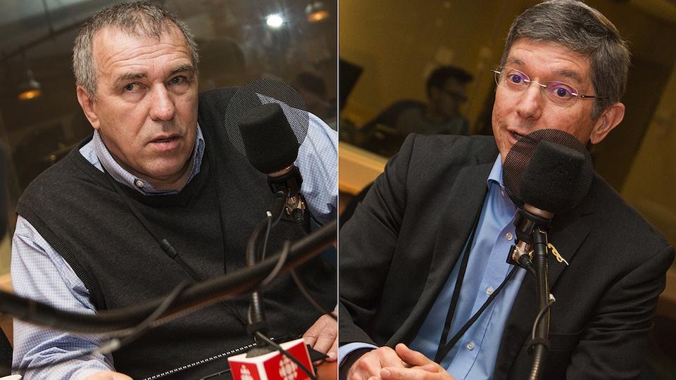 André Dubois et Gilles Pépin et micro de Catherine Perrin
