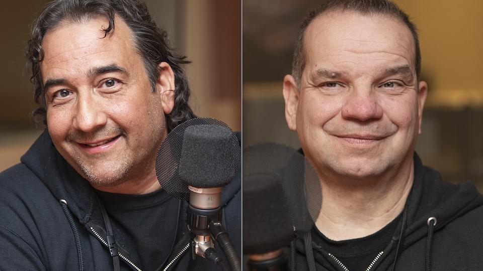 Dany Bisante et Eric Langevin au micro de Catherine Perrin.