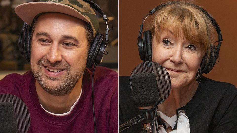 Bob le Chef et Louise DesChâtelets au micro de Catherine Perrin.