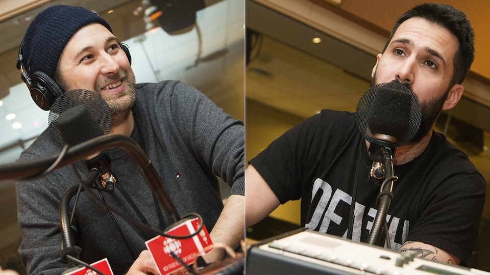 Bob le Chef et Stéphane Larue au micro de Catherine Perrin