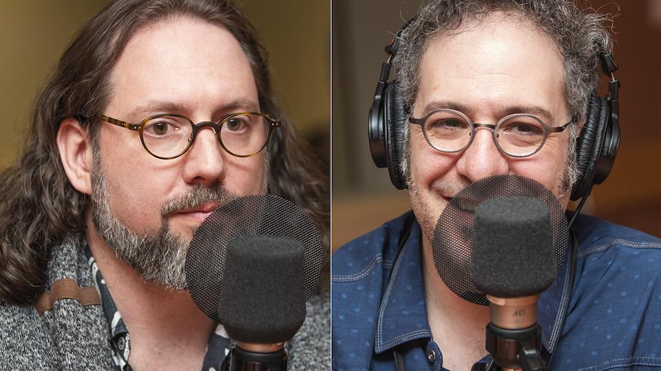Olivier Demers et Nicolas Boulerice au micro de Catherine Perrin.