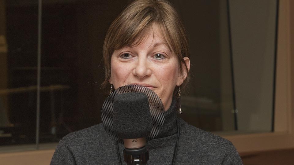 Lorraine Derocher au micro de Catherine Perrin.