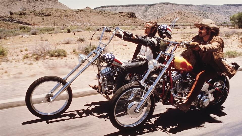Une scène tirée du film« Easy Rider » avec Peter Fonda et Dennis Hopper (1969).