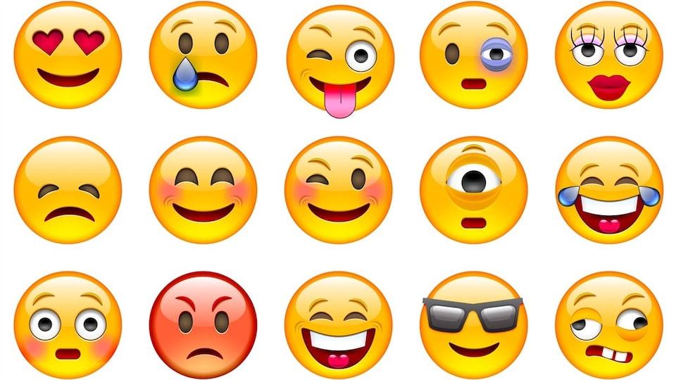 15 émotions différentes représentées par autant d'émojis