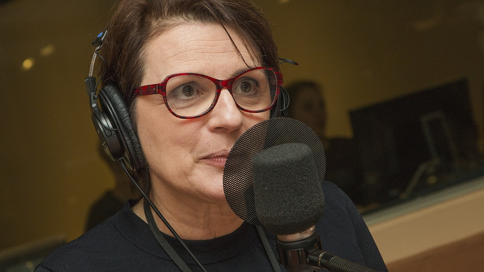 Marie-Thérèse Fortin au micro de Catherine Perrin