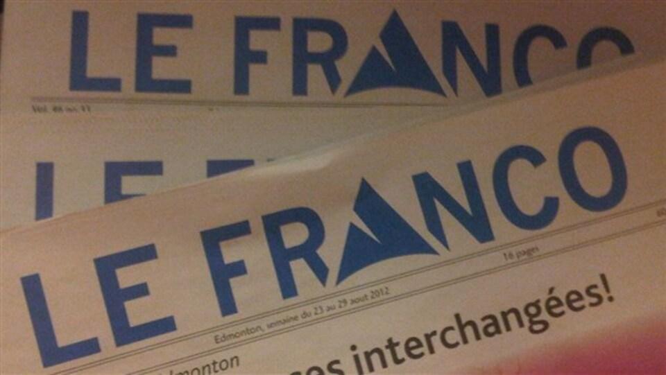 Entête de la publication francophone albertaine <i>Le Franco</i>.
