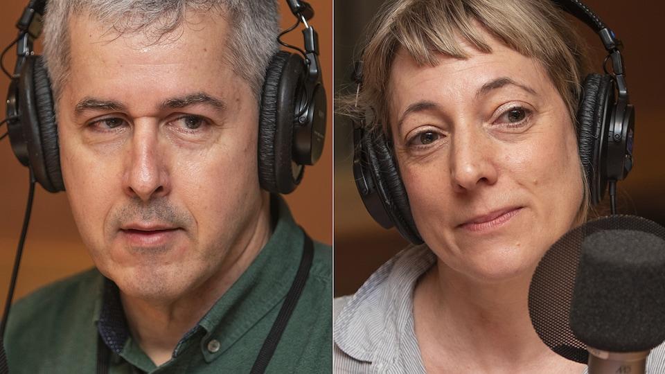 Alain Grenier et Julie Laferrière au micro de Catherine Perrin.