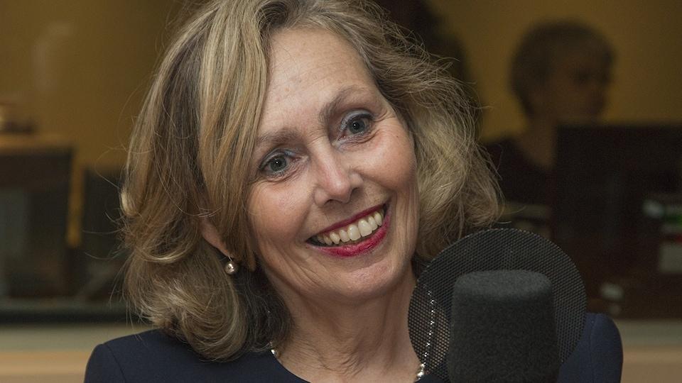 Monique Leroux au micro de Catherine Perrin.
