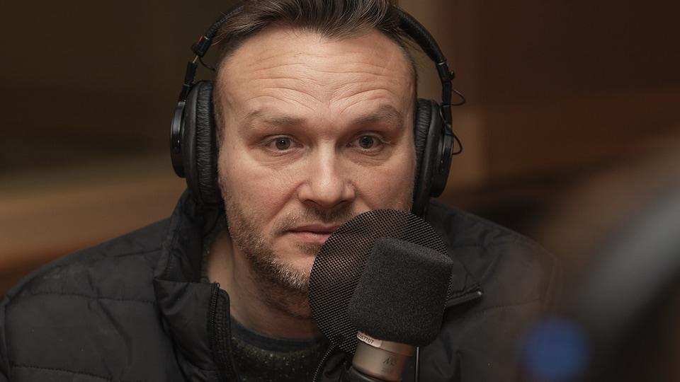 Jean-Sébastien Lozeau au micro de Catherine Perrin.