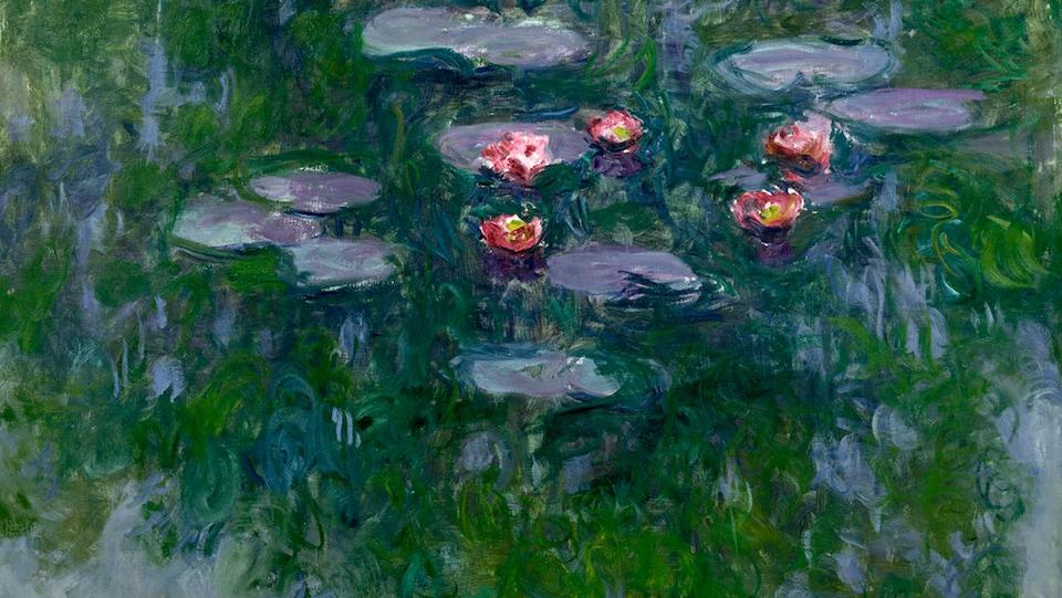 La toile <i>Nymphéas</i>, 1916–19  de Claude Monet, Musée Marmottan Monet, Paris