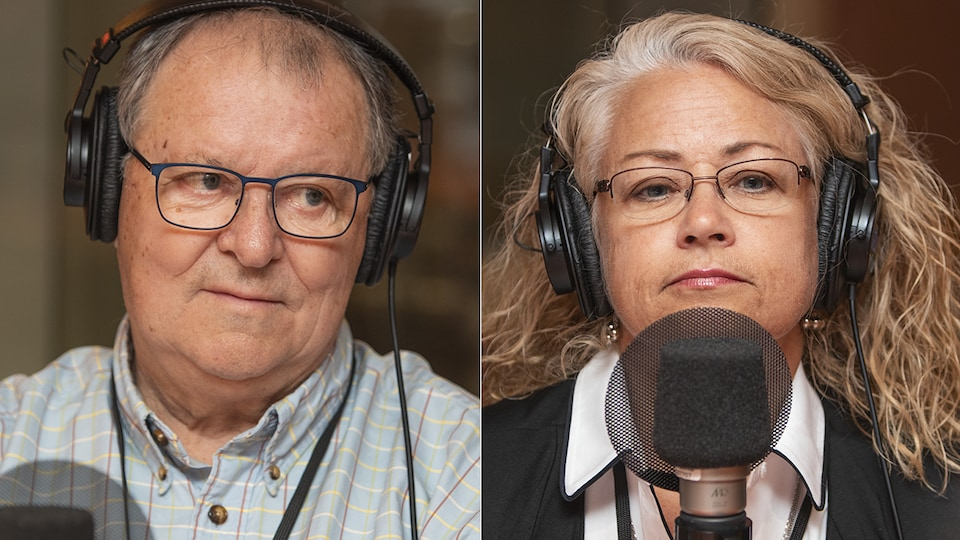 Michel Oligny et Martine Laurier au micro de Catherine Perrin.