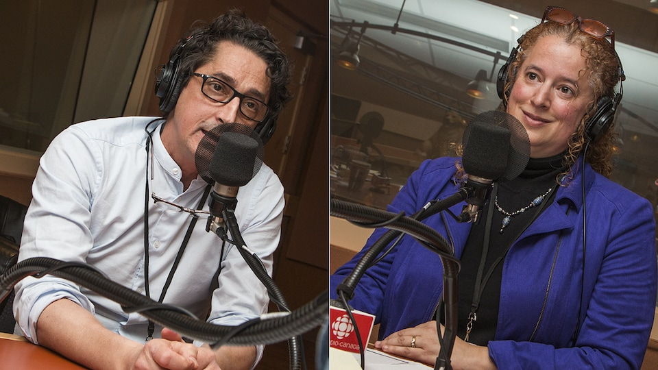 Dr Pierre Marsolais et Marie-Anik Grégoire au micro d'Isabelle Craig