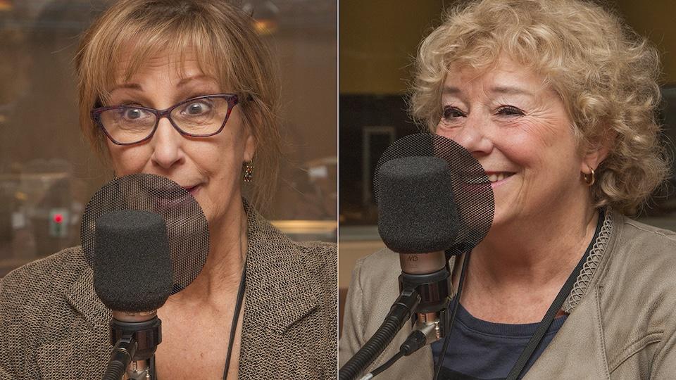 Danielle Proulx et Marie Eykel au micro de Catherine Perrin.