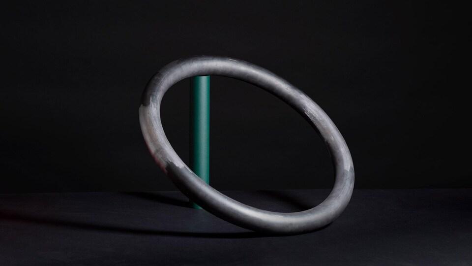 L'une des pièces de l'exposition <i>Feu de camp</i>, présentée à la galerie Corridor.