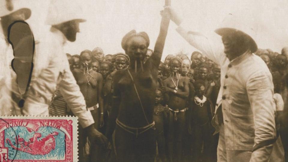 Une femme africaine est exhibée dans cette image tirée du livre Sexe, race et colonies.