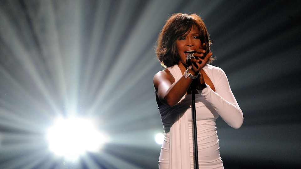 Whitney Houston lors du gala American Music Awards en 2009.