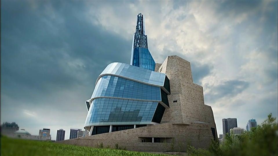 Le Musée canadien pour les droits de la personne (MCDP) à Winnipeg.