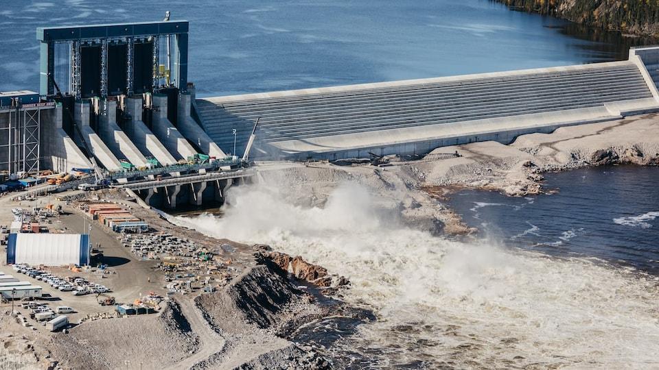 Le barrage de Muskrat Falls.