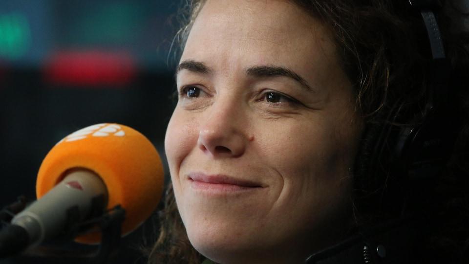 Myriam Verreault, en studio
