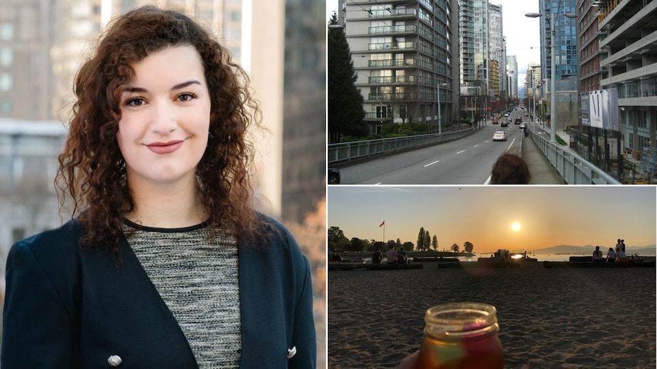Montage de photos de Gwendoline Decat-Beltrami en Colombie-Britannique.