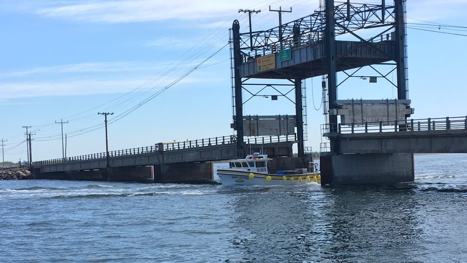 Il faut élever une partie du tablier du pont actuel pour laisser passer les bateaux.