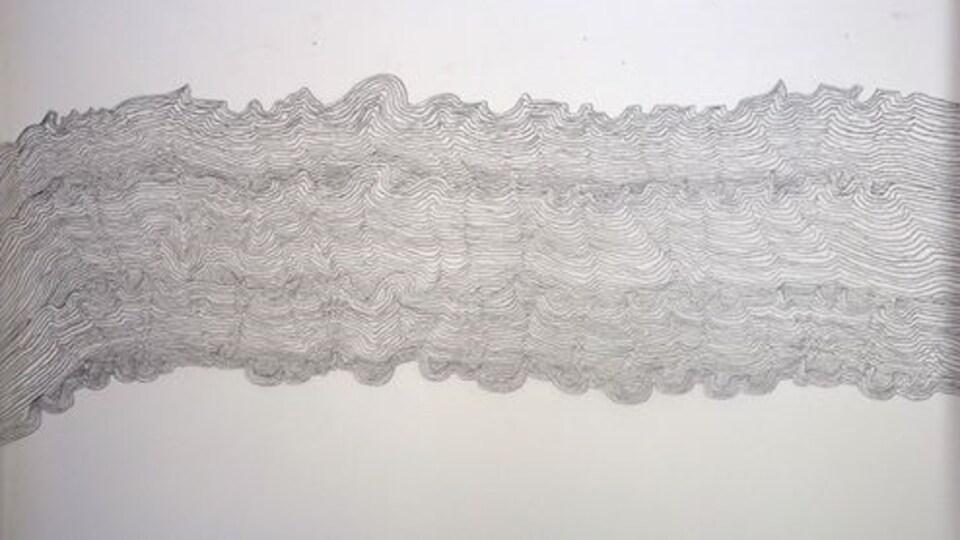 Oeuvre de Natasha Durand, faisant partie de l'exposition Cicatrices de Bélugas