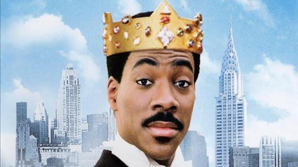 Eddie Murphy sur l'affiche du film Un prince à New York.