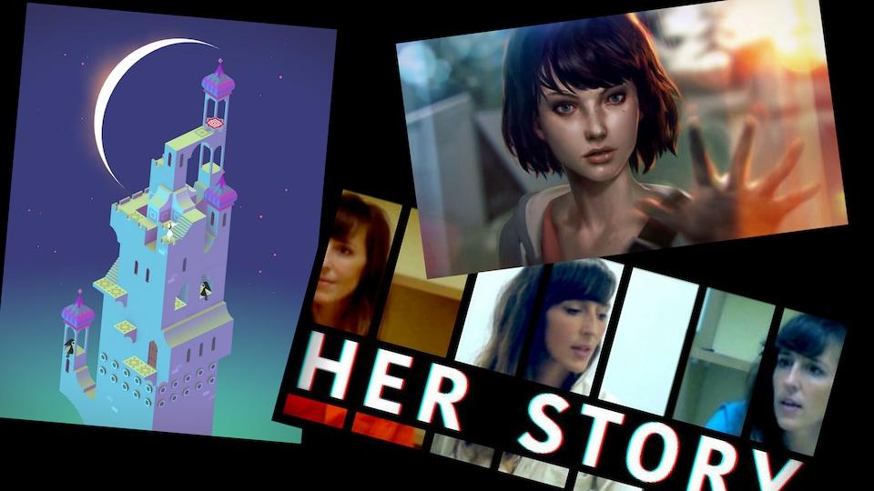 Les jeux Monument Valley, Life is strange et Her Story, proposent tous à leur manière, de nouvelles façons d'aborder les jeux vidéos.